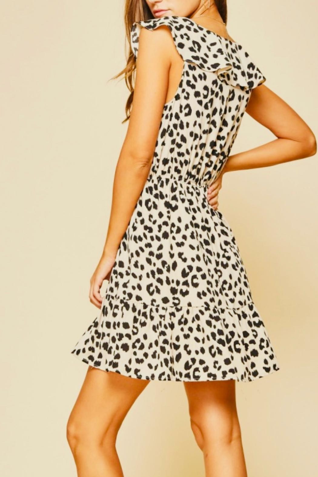 Andree by Unit Little Leopard Dress - Back Cropped Image