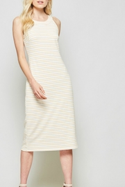Andree by Unit Marigold Stripe Midi - Product Mini Image