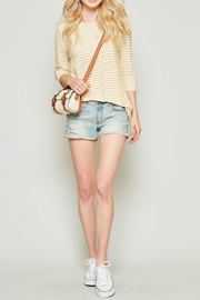 Andree by Unit Marigold Stripe Top - Product Mini Image