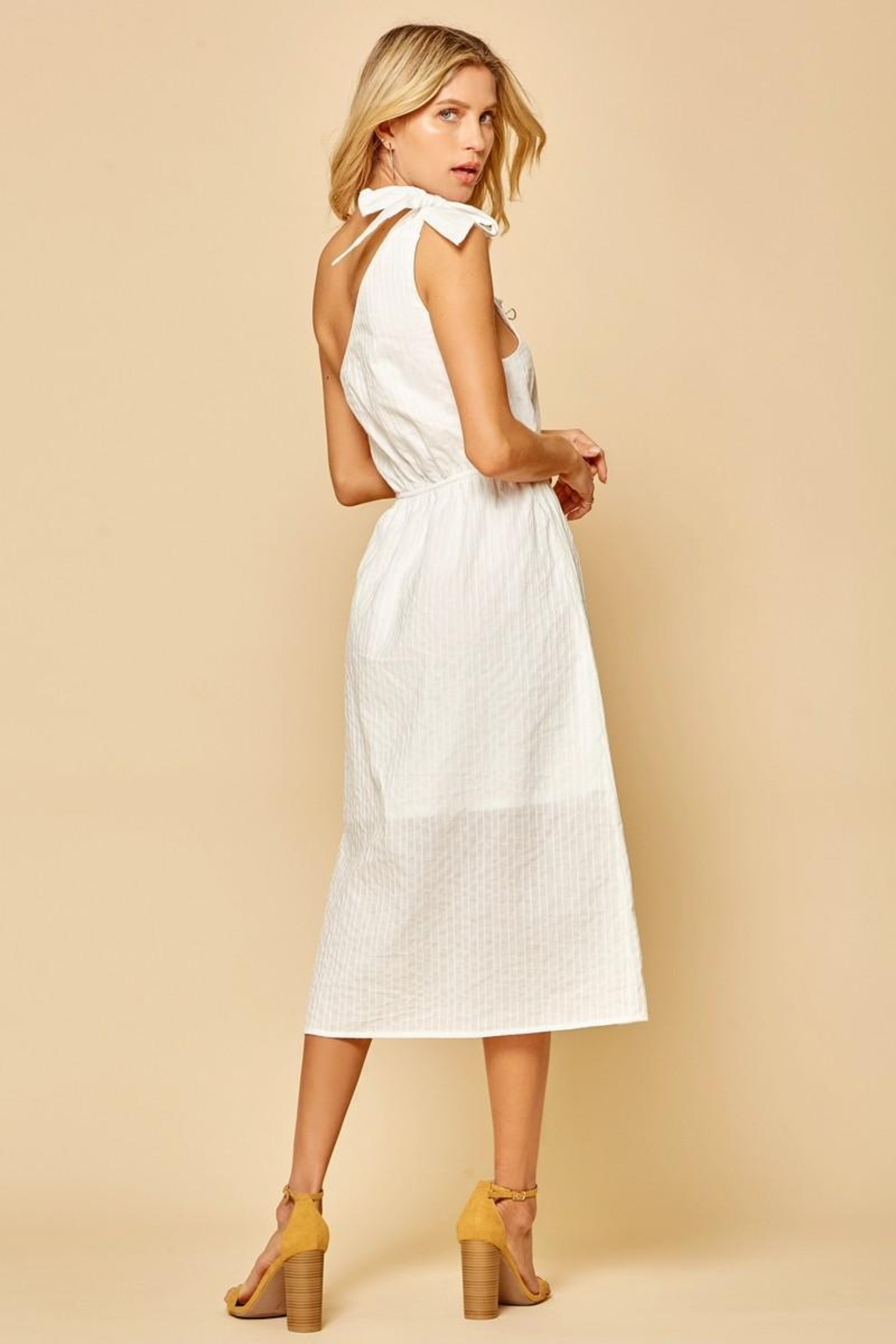 Andree by Unit One-Shoulder Midi Dress - Front Full Image