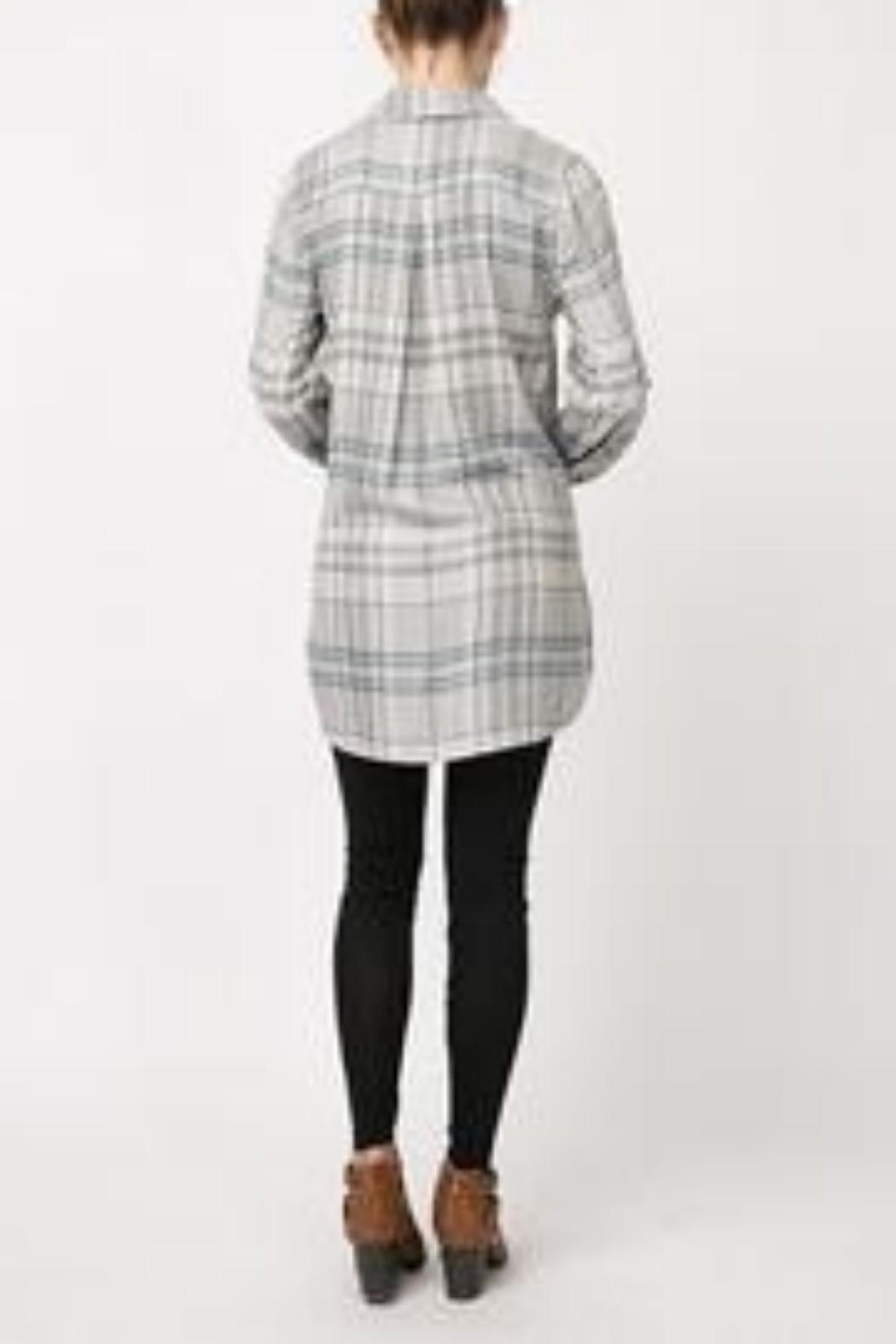 Andree by Unit Plaid Shirt Dress - Back Cropped Image