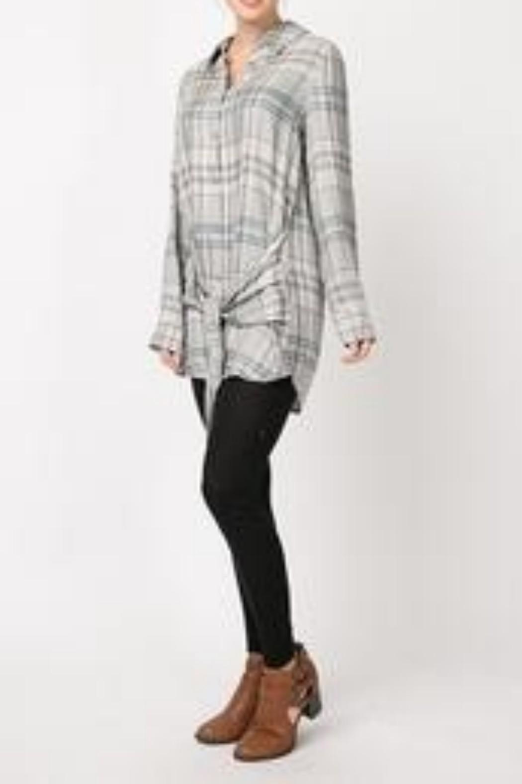 Andree by Unit Plaid Shirt Dress - Side Cropped Image