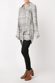 Andree by Unit Plaid Shirt Dress - Side cropped