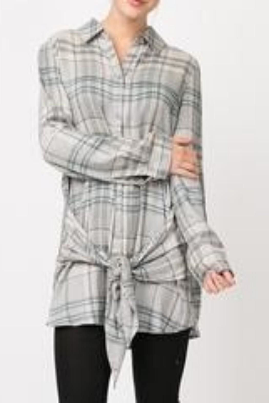 Andree by Unit Plaid Shirt Dress - Main Image