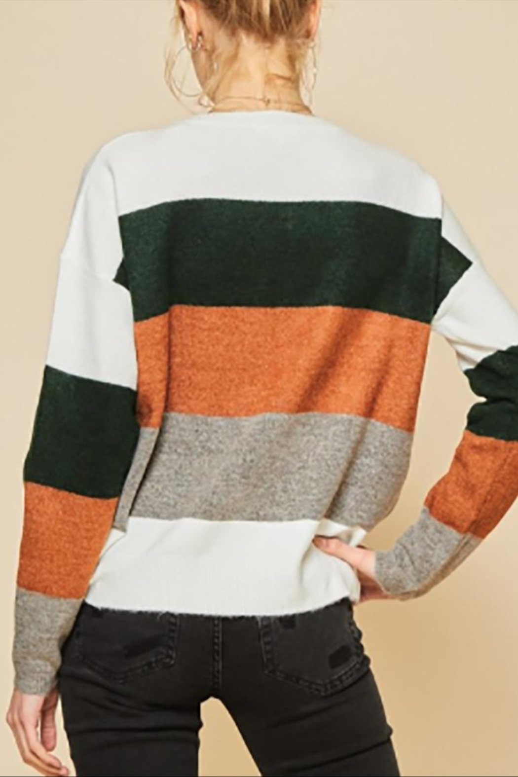 Andree by Unit Plus Colorblock Sweater - Side Cropped Image