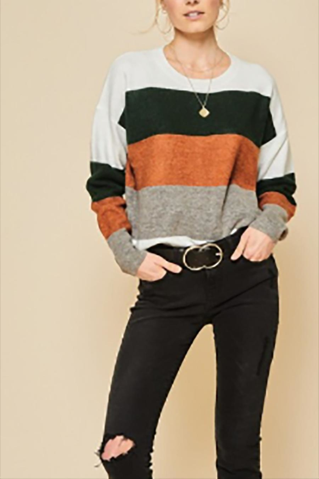 Andree by Unit Plus Colorblock Sweater - Main Image
