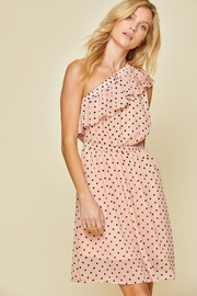 Andree by Unit Polka-Dot One-Shoulder Dress - Front cropped