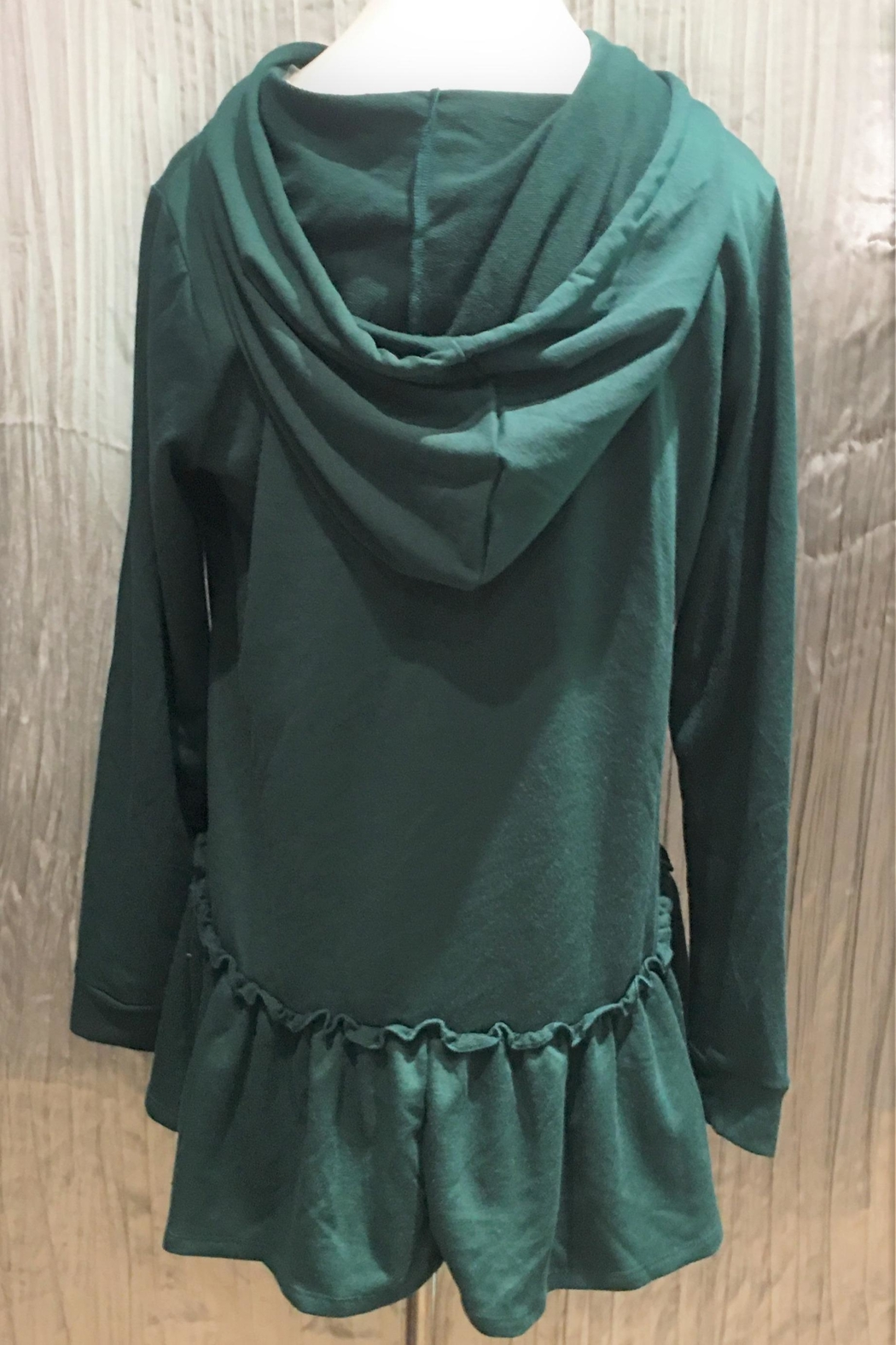 Andree by Unit Ruffle Hem Hooodie - Front Full Image