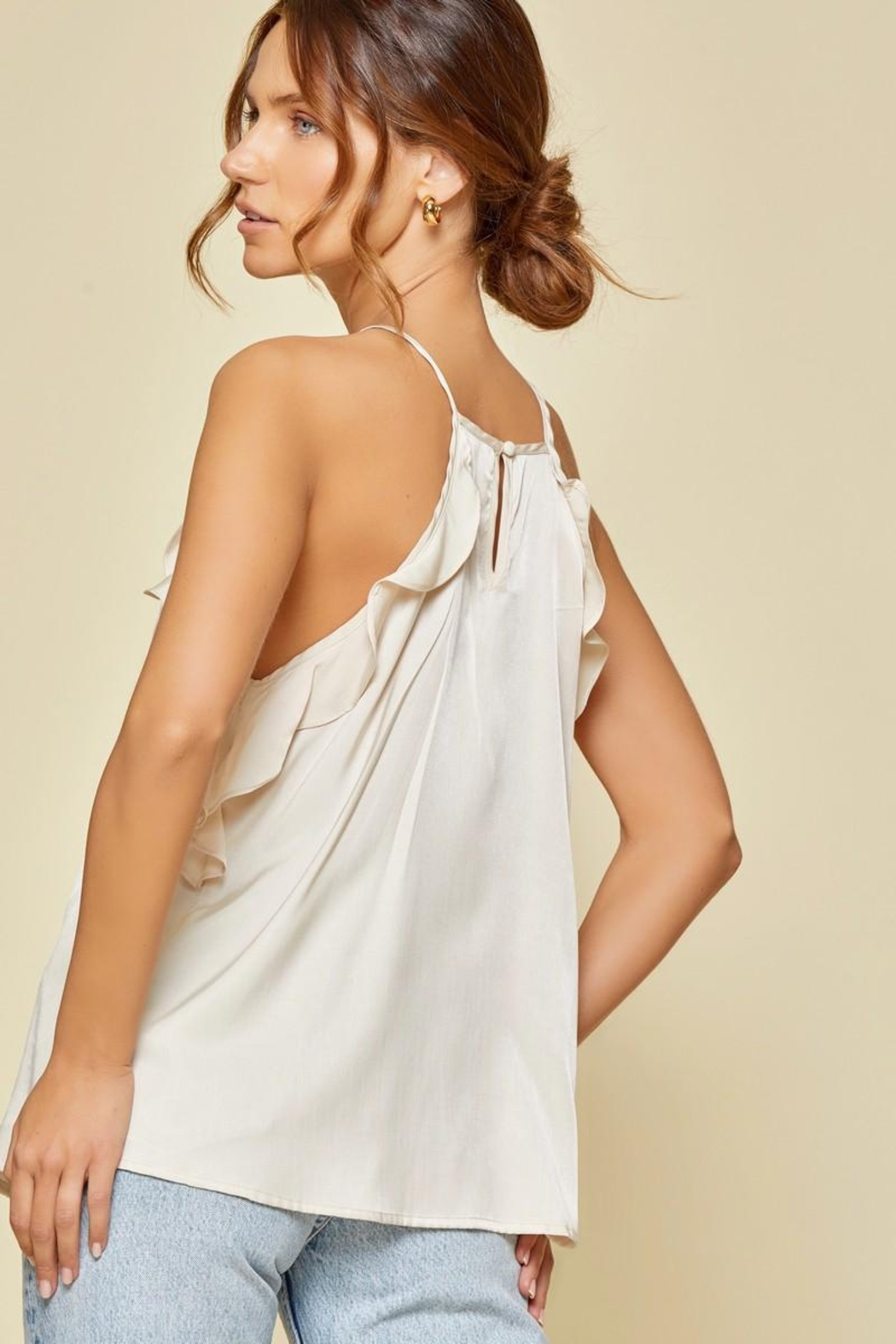 Andree by Unit Ruffle Sleeveless Top - Front Full Image