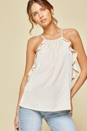 Andree by Unit Ruffle Sleeveless Top - Front cropped