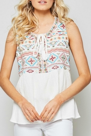 Andree by Unit Sleeveless Embroidered Top - Product Mini Image