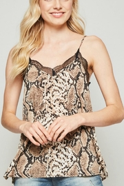 Andree by Unit Snake Lace Camisole - Front cropped