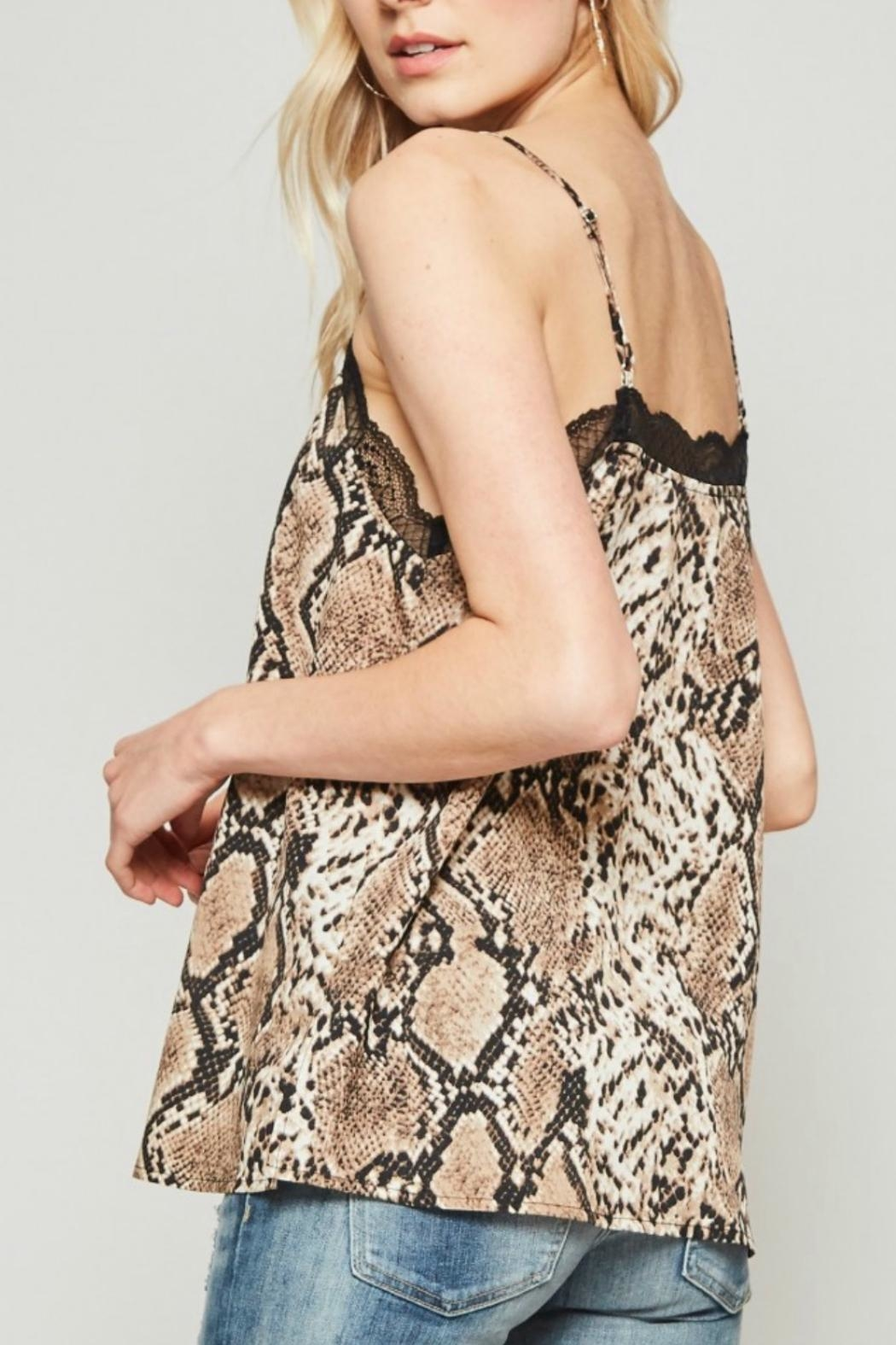 Andree by Unit Snake Lace Camisole - Side Cropped Image
