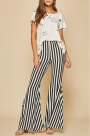 Andree by Unit Striped Knit Flares - Product Mini Image