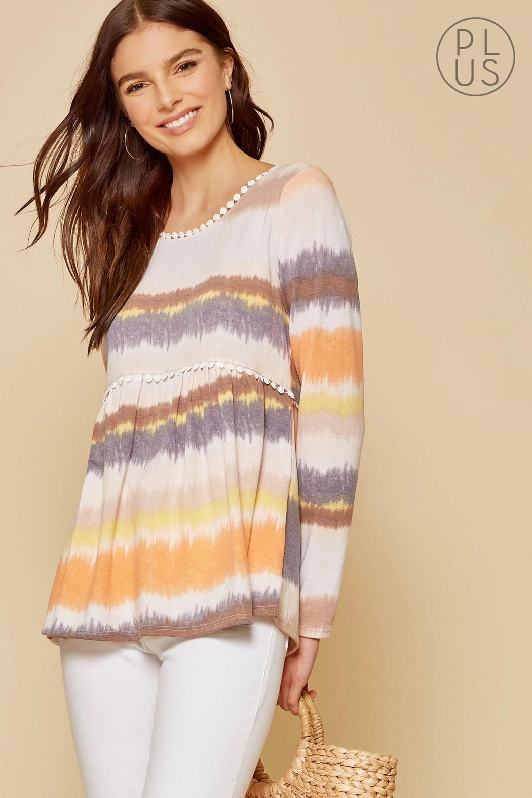 Andree by Unit Tie-Dye Baby-Doll Top - Main Image
