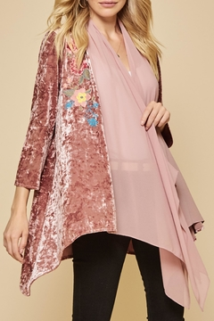 Andree by Unit Velvet Embroidered Cardigan - Product List Image