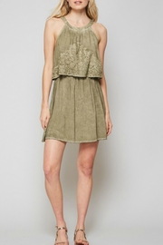 Andree by Unit Washout Embroidered Dress - Product Mini Image