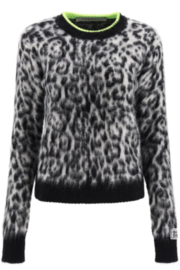 Golden Goose Deluxe Brand Andreina Crew Neck Leopard Sweater - Product Mini Image