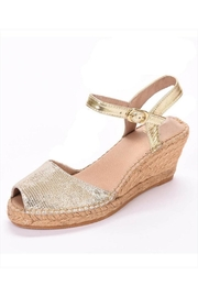 Andrew Stevens Ana Leather Gold Wedges - Product Mini Image