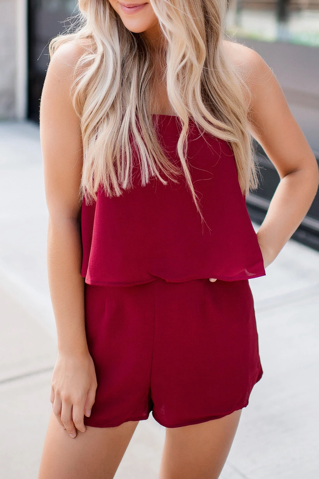 Buddy Love Andrews Game Day Romper - Back Cropped Image