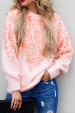 andthewhy Floral Applique Sweater - Product List Image