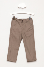 Andy & Evan Grey Twill Pants - Product Mini Image