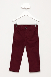 Andy & Evan Maroon Twill Pants - Product Mini Image