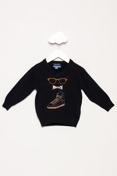 Andy & Evan Navy Sunglasses Sweater - Product List Image
