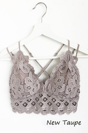 Anemone Adjustable Strap Crochet Lace Bralette - Front cropped
