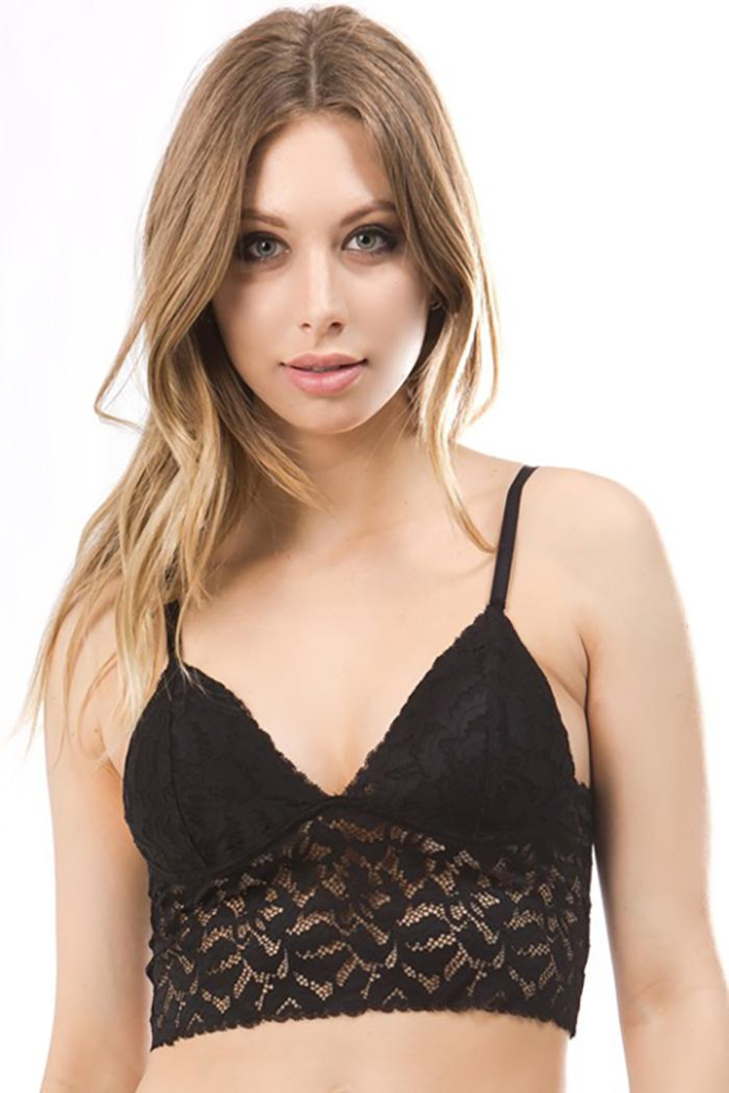 Anemone All In One Bra And Cami Scalloped Trims - Front Cropped Image