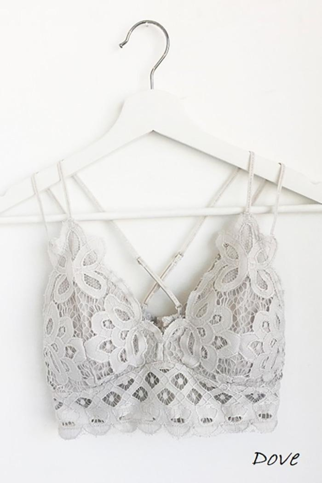 Anemone Beautiful Crochet Lace Bralette - Front Cropped Image