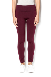 Anemone Burgundy Highwaisted Fleece Leggings - Product Mini Image
