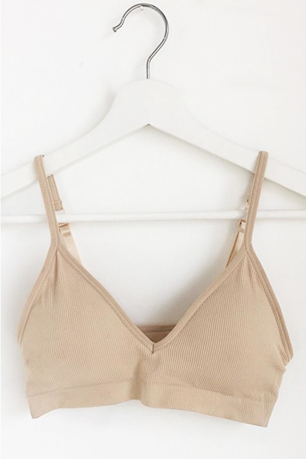 Anemone Comfortable Ribbed Bralette - Main Image