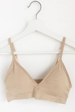 Anemone Comfortable Ribbed Bralette - Product List Image