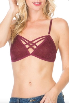 Anemone Cross-Front Lace Bralette - Product List Image