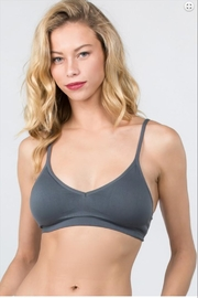 Anemone Deep-V Seamless-Bra Grey - Product Mini Image