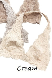Anemone Lace Halter Bralette - Front cropped