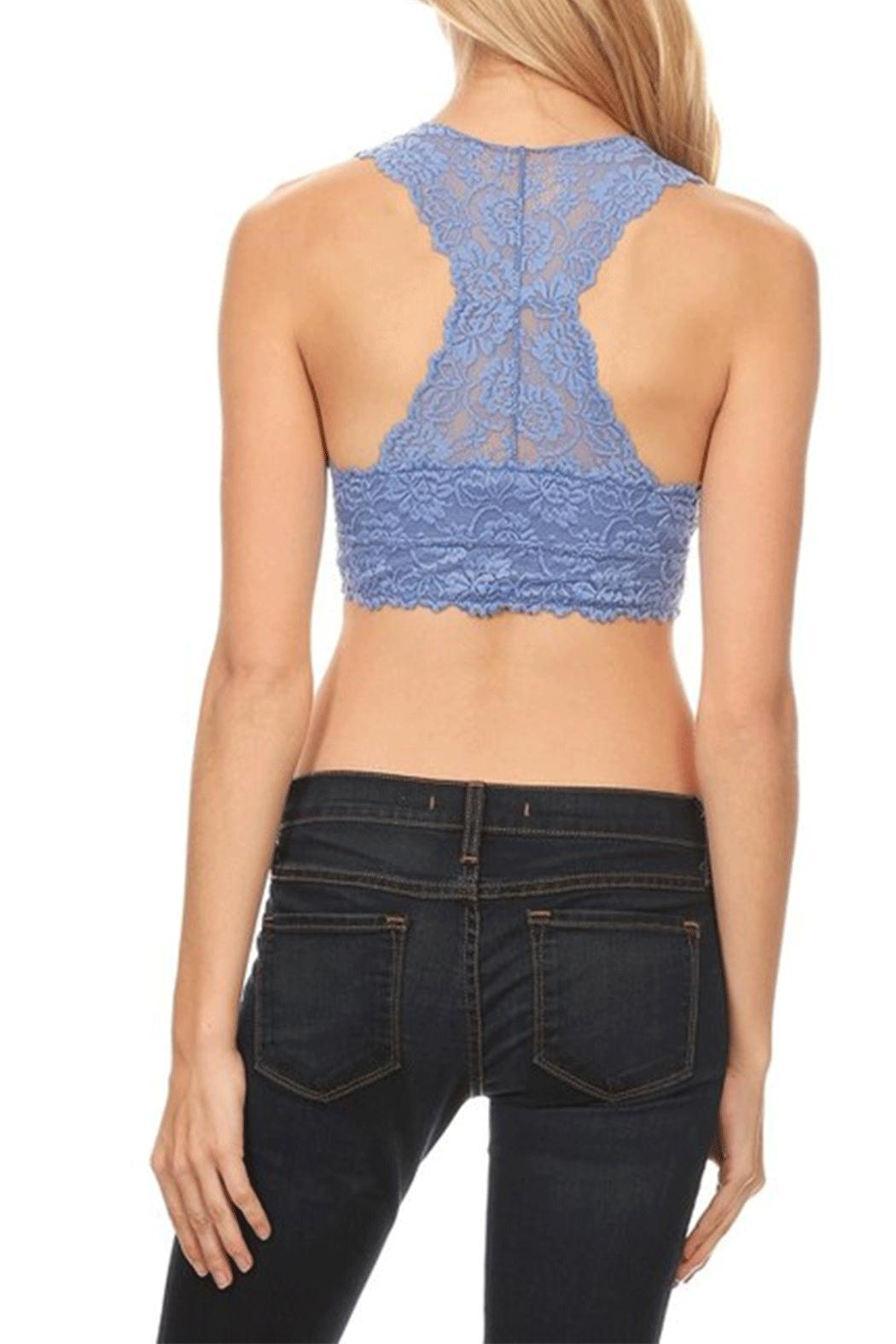 Anemone Lace Mesh Racerback - Back Cropped Image
