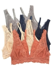Anemone Lace Overlay Bralette - Product Mini Image