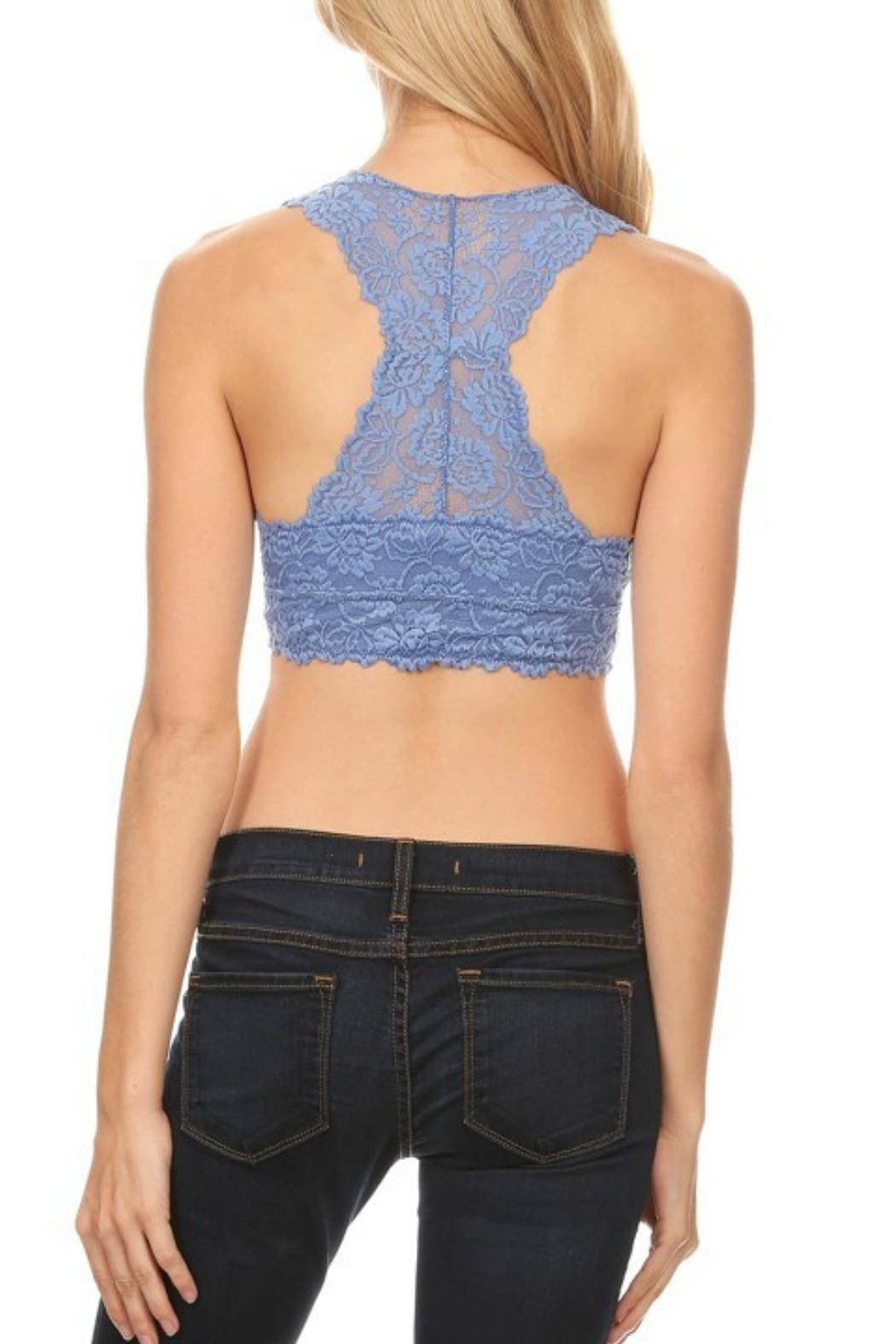 Anemone Lace Racerback Bralette - Front Full Image