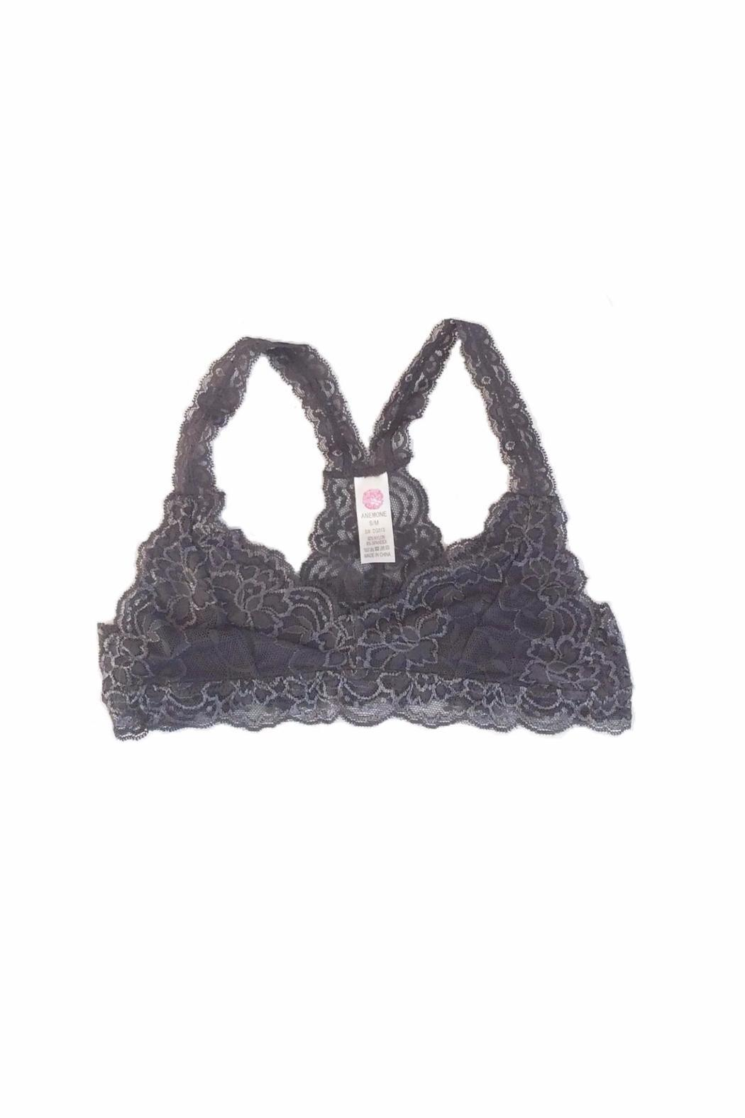 Anemone Lace Racerback Bralette - Front Cropped Image