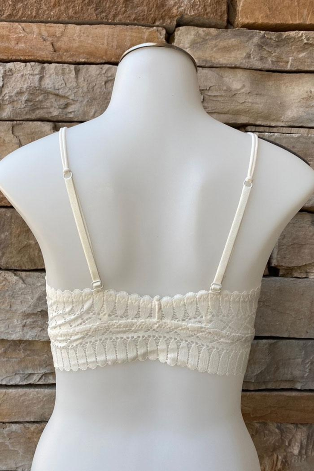 Anemone Lined Removable Pad Bralette - Front Full Image