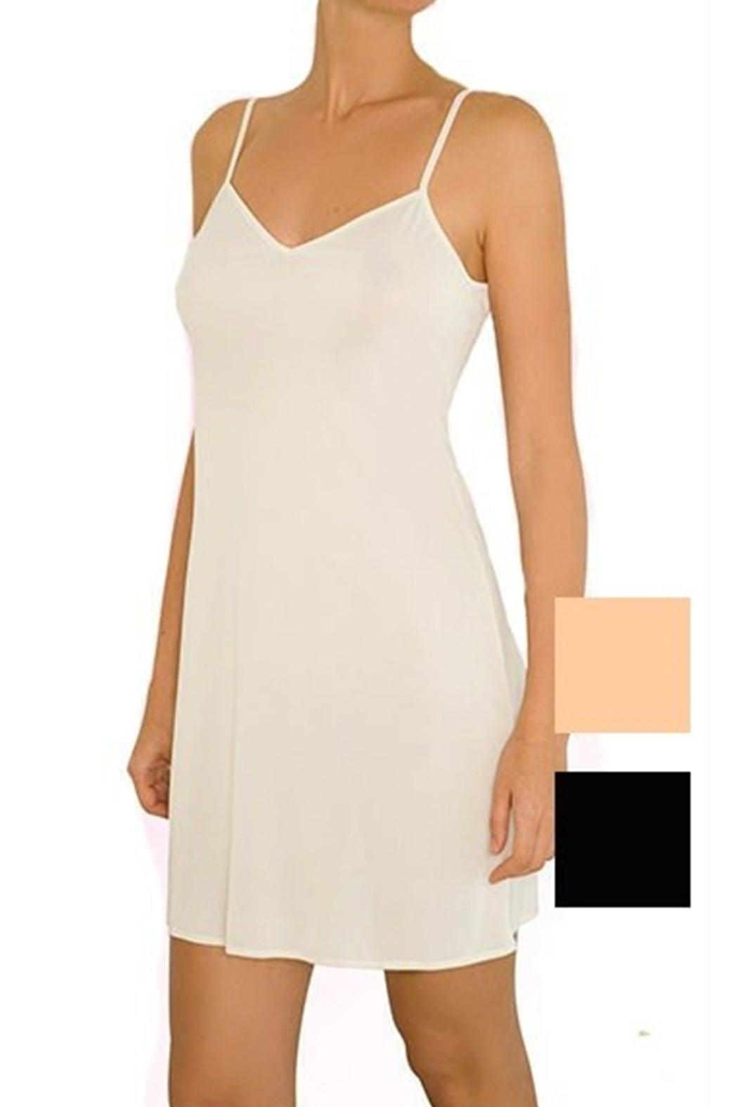 Anemone Slinky Slip Nightgown - Front Cropped Image
