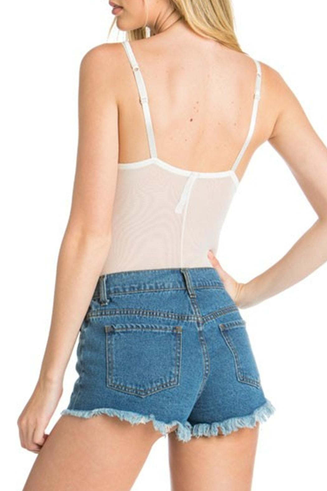 Anemone Strappy Thong Bodysuit - Back Cropped Image
