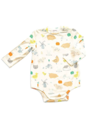 Angel Dear Little Farm Print Bodysuit - Product Mini Image
