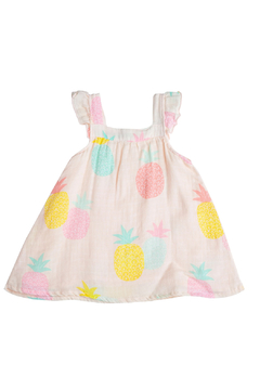Angel Dear Pink Pineapple Sundress with Diaper Cover - Alternate List Image