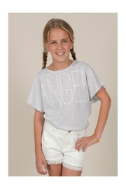 Mini Molly Angel Graphic Tee - Front full body