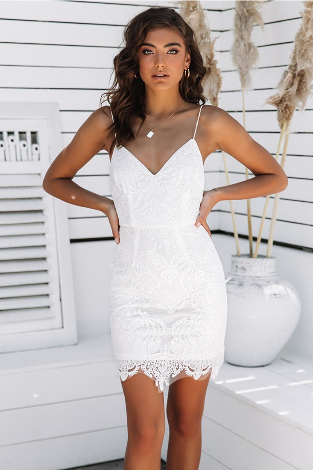 Rumor Angel Mini Dress - Front Cropped Image