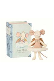 Maileg Angel Mouse Big Sister in Book - Product Mini Image