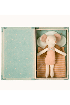 Maileg Angel Stories, Big Sister Mouse In Book - Product List Image